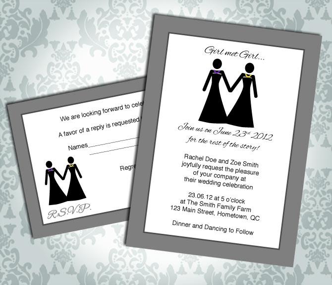Lesbian Wedding Invitation / Commitment Ceremony